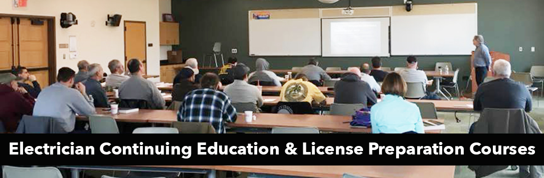 Electrician Continuing Education and License Preparation Courses